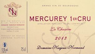 Mercurey 1er Cru La Chassiere 2013