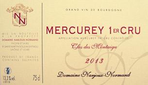 Mercurey Premier Cru Clos des Montaigus 2013